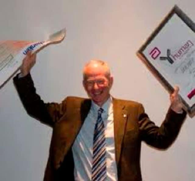 Geir Hoff ved tildelingen av Human-prisen i 2008.