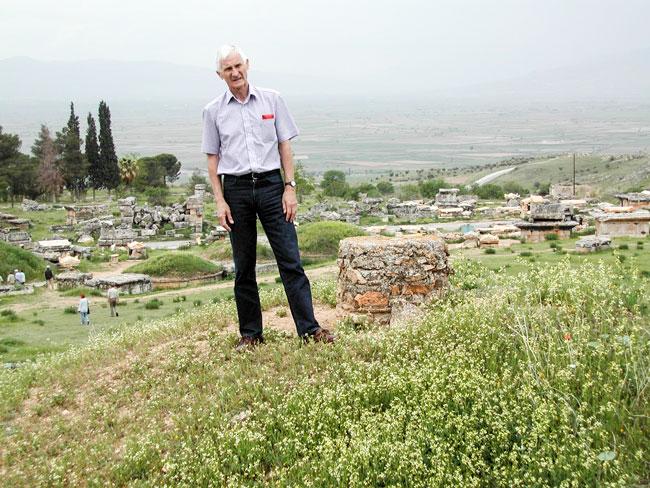 Paul på historisk grunn, Pamukkale, Tyrkia.