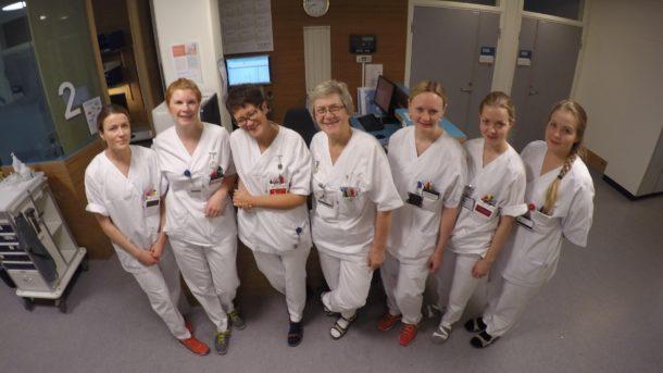 Sykepleierteamet på sengetun 2