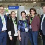 Styringsgruppen i IBSEN III-studien under ECCO 2018. Fra venstre Petr Ricanek, Randi Opheim, Vendel A. Kristensen, Marte Lie Høivik og Trond Espen Detlie. Gert Huppertz-Hauss og Gøri Perminov var ikke til stede.